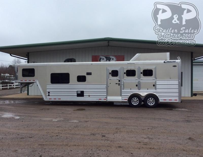 """2020 Cimarron Trailers Norstar Outback OC Hybrid 3 Horse Slant Load Trailer 12' 9"""" FT LQ With Slides"""