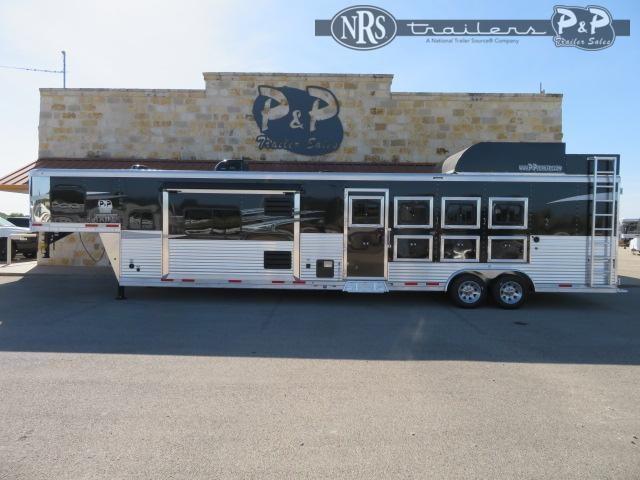 2021 Lakota Charger C8415SRRSL 4 Horse Slant Load Trailer 15 FT LQ w/ Slideouts