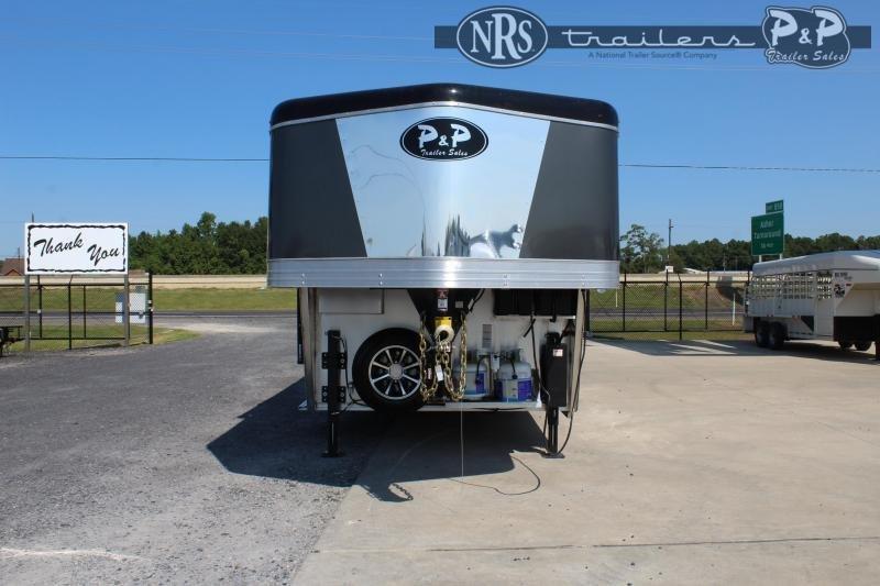 2022 Bison Trailers Desperado DS8416.S.R 4 Horse Slant Load Trailer 16 FT LQ With Slides w/ Ramps