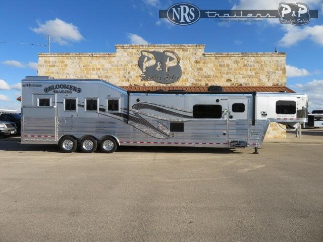 2021 Bloomer 8415PCOL 4 Horse Slant Load Trailer 15 FT LQ w/ Slideouts