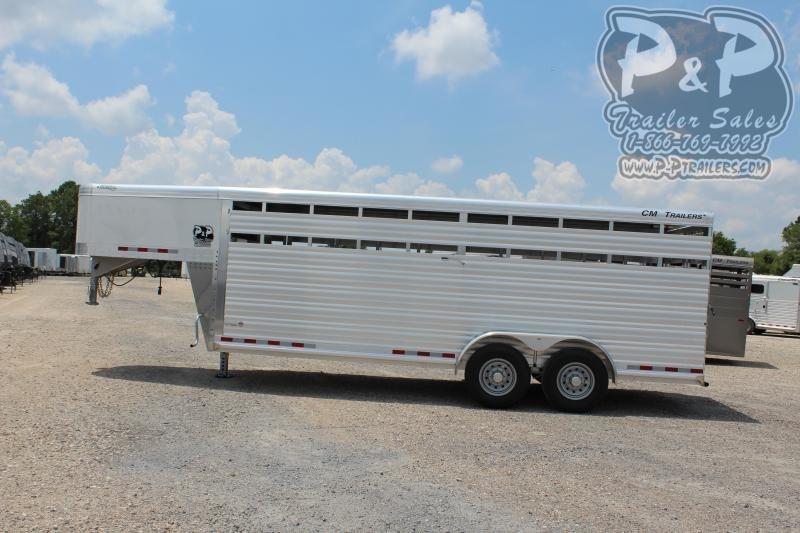 2020 CM CMS2040-20 Roundup AL 20' 20 ft Livestock Trailer