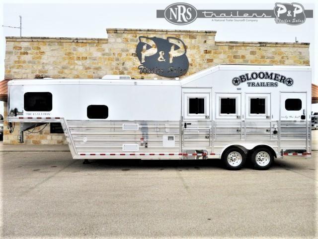 2021 Bloomer 8310MTOL 3 Horse Slant Load Trailer 10 FT LQ