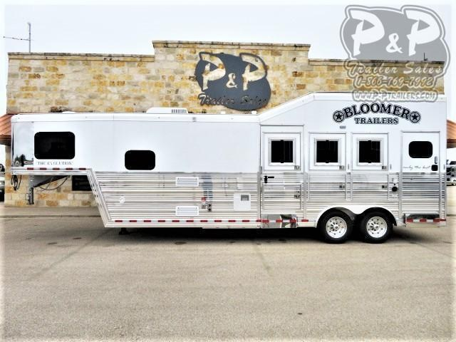 2021 Bloomer 8310MTOL 3 Horse Slant Load Trailer 10 FT LQ w/ Ramps