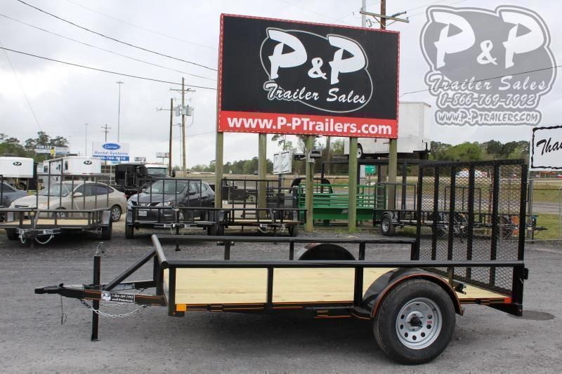 "2021 P and P PPSA10X72LDRGPT Light Duty Rear Gate 72"" x 10 ' Utility Trailer"