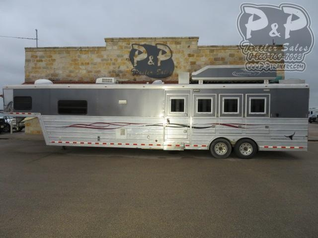 2008 Bloomer 8416 Duster Conversion 4 Horse Slant Load Trailer 16 FT LQ