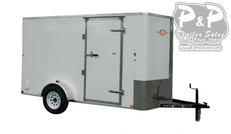 "2021 Carry-On Cargo Trailers 6X12CGRBN 144 "" Enclosed Cargo Trailer"