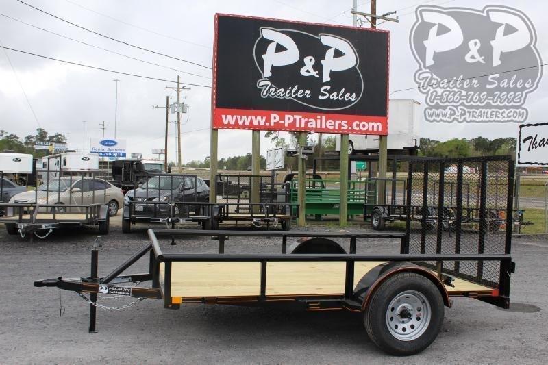 "2021 P and P PPSA10X72LDRGPT 72"" x 10 ' Utility Trailer"
