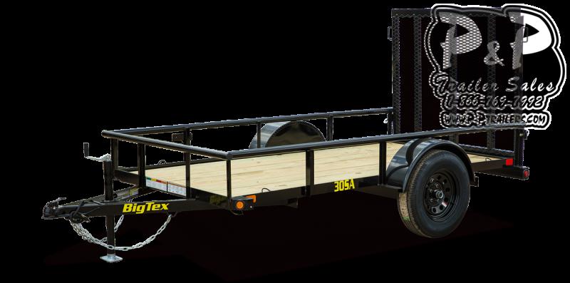 2021 Big Tex Trailers 30SA 08BK4RG 8 Utility Trailer