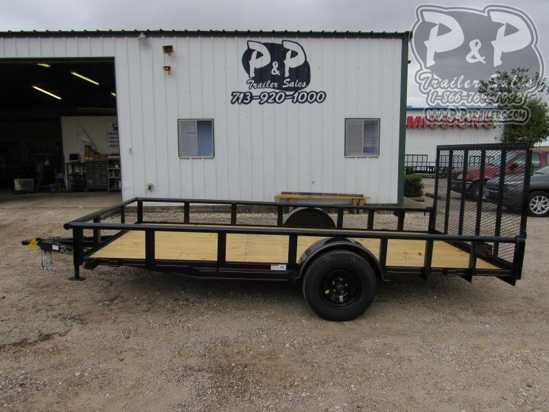 2020 P and P PPSA14X77LDRGPT 14 ' Utility Trailer