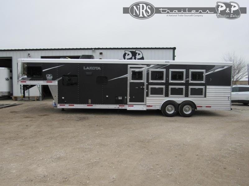 2022 Lakota C8411SR 4 Horse Slant Load Trailer 11 FT LQ