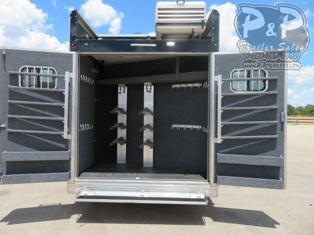 "2018 Bloomer Outlaw Conversion PC Load 5 Horse Slant Load Trailer 18'9"" FT LQ With Slides w/ Ramps"
