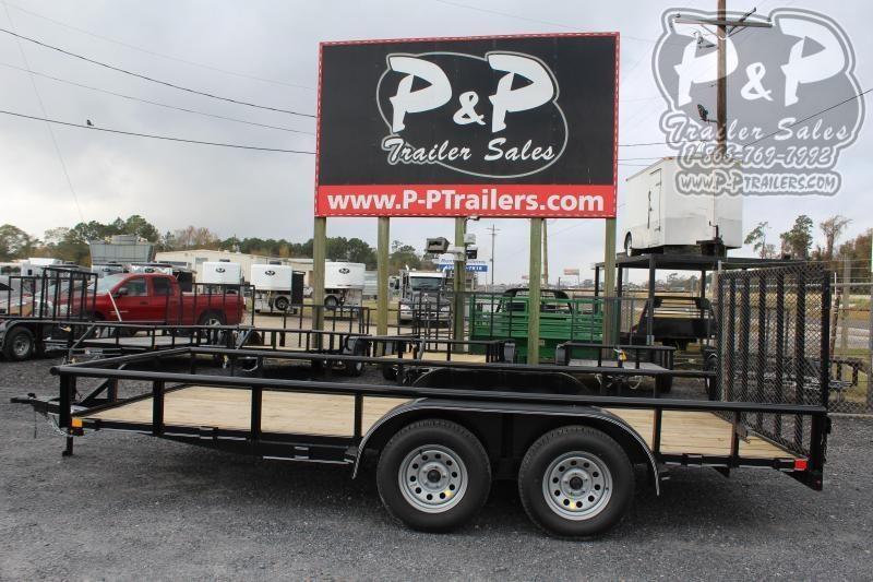 "2021 P and P PPTA16X83LDRGPT 83"" x 16 ' Utility Trailer"