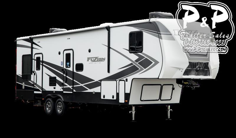 """2021 Keystone RV Impact 311 35' 7"""" Toy Hauler RV"""