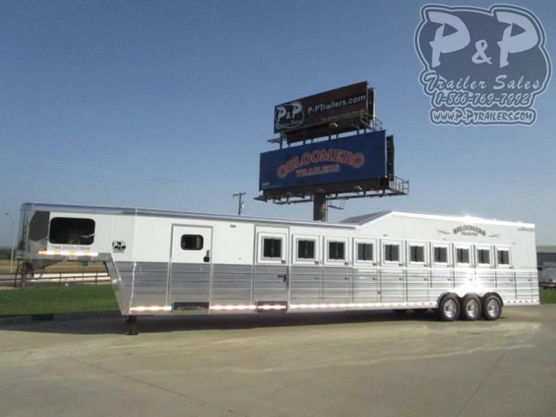 2021 Bloomer 10 Horse Trainer 10 Horse Slant Load Trailer w/ Ramps