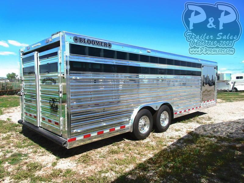 2021 Bloomer 24' X 8' V-Nose Stock Livestock Trailer