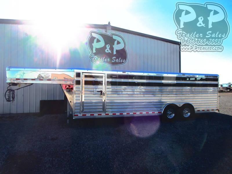 2021 Bloomer 24' X 8' V-Nose Stock Livestock Trailer