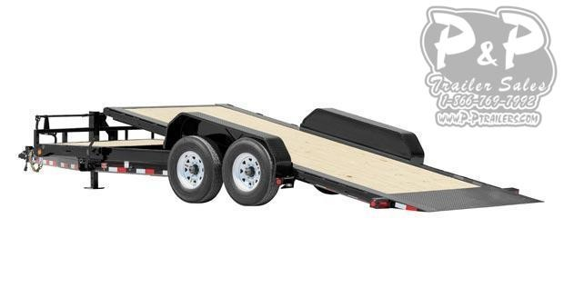2021 PJ Trailers HD Tilt 6 in. Channel TJT22K2BTTK-TBTL 22 ' Flatbed Trailer