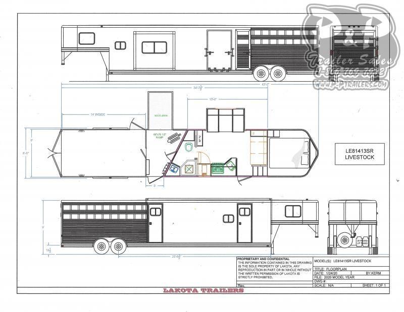 2021 Lakota Charger LE81413 34 Livestock Trailer LQ