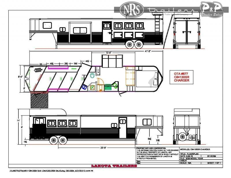 2022 Lakota C8413SRRSL 4 Horse Slant Load Trailer 13 FT LQ w/ Slideouts