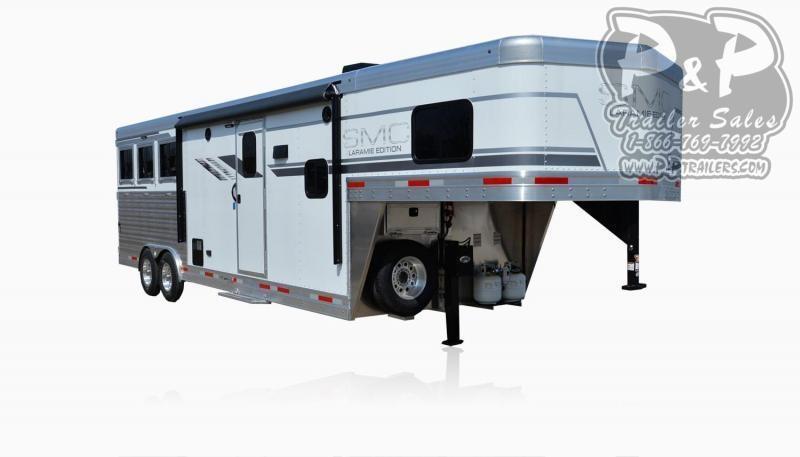 2021 SMC Horse Trailers SL8X10FK LARAMIE 3 Horse Slant Load Trailer 10 FT LQ