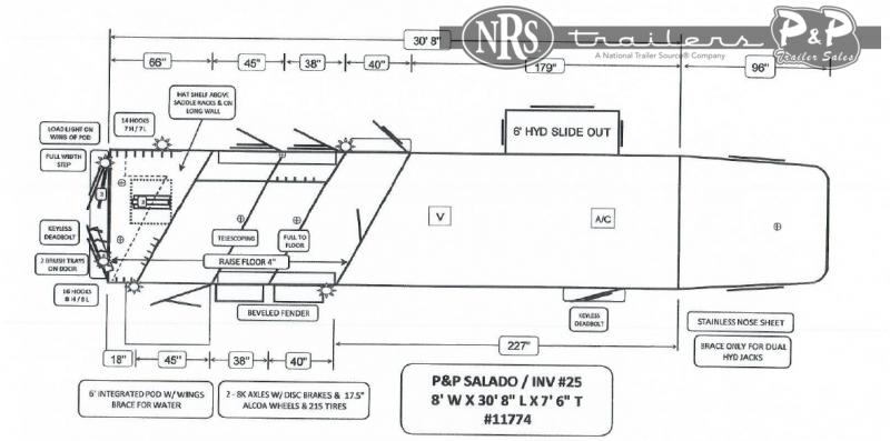 2022 Bloomer 8315PCOL 3 Horse Slant Load Trailer 15 FT LQ With Slides w/ Ramps