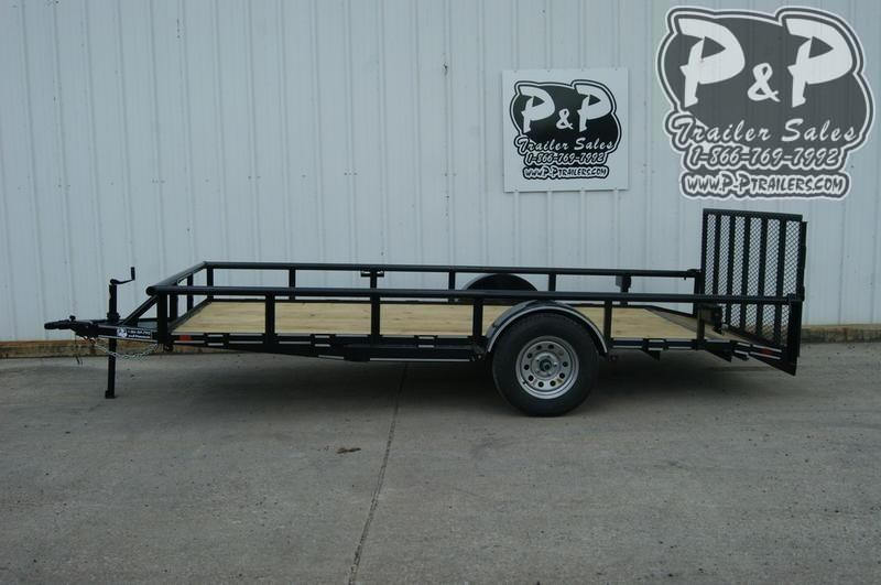 "2021 P and P PPSA14X77LDRGPTDT 77"" x 14 ' Utility Trailer"