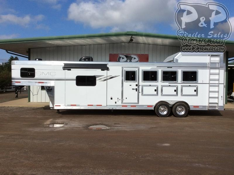 2021 SMC Horse Trailers SL8413SSR 4 Horse Slant Load Trailer 13 FT LQ With Slides