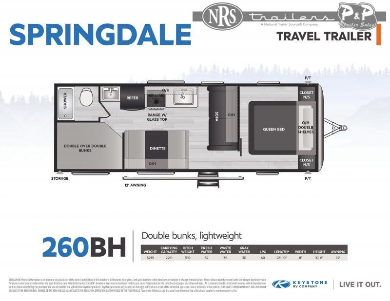 2021 Keystone RV Springdale 260BH 346 Travel Trailer RV