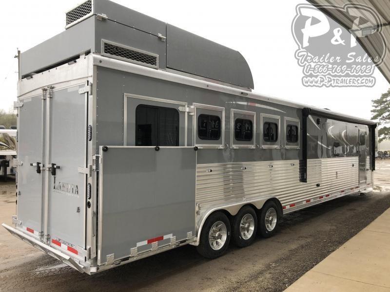 2021 Lakota Bighorn BH8516TSR 5 Horse Slant Load Trailer 16 FT LQ With Slides w/ Ramps