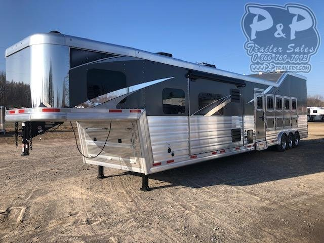 2021 Lakota Bighorn BH8516TSR 5 Horse Slant Load Trailer 16 FT LQ With Slides w/ Ramps