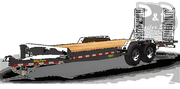 2020 Big Tex Trailers 16ET-17+3 20 ' Flatbed Trailer