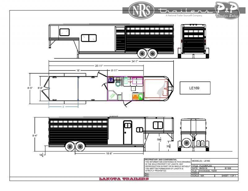 2022 Lakota LE169NS 25 ' Livestock Trailer LQ