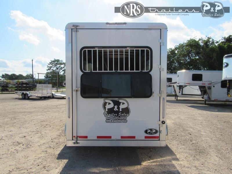 2021 P and P 64170W-3SL-BP 3 Horse Slant Load Trailer