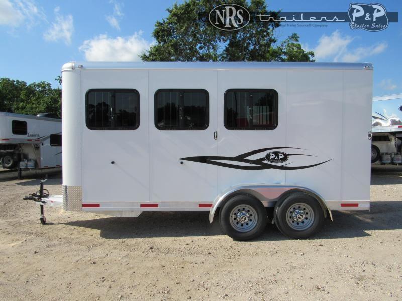 2022 P and P 64170W-3SL-BP 3 Horse Slant Load Trailer