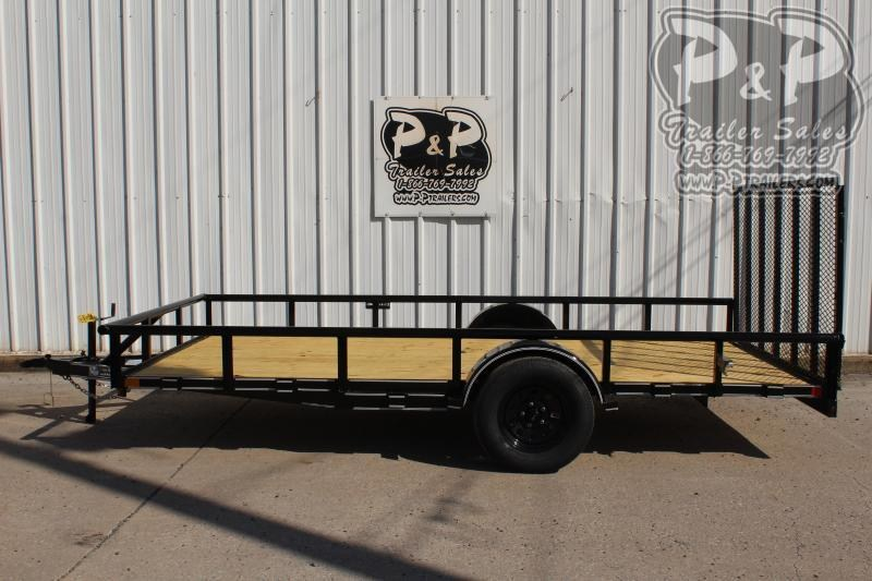 "2021 P and P PPSA14X83LDRGPT 83"" x 14 ' Utility Trailer"