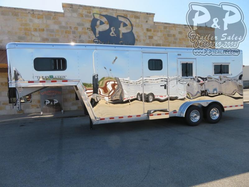 2021 Bloomer B2+1GS227 2 Horse Straight Load Trailer w/ Ramps