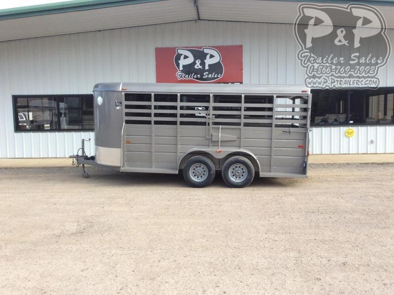 2021 W-W Trailer 16x6 All Around 16 ' Livestock Trailer
