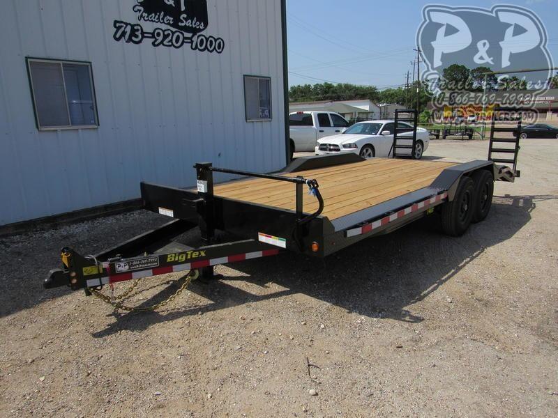 2019 Big Tex Trailers 14DF-20BK 20 ft Flatbed Trailer