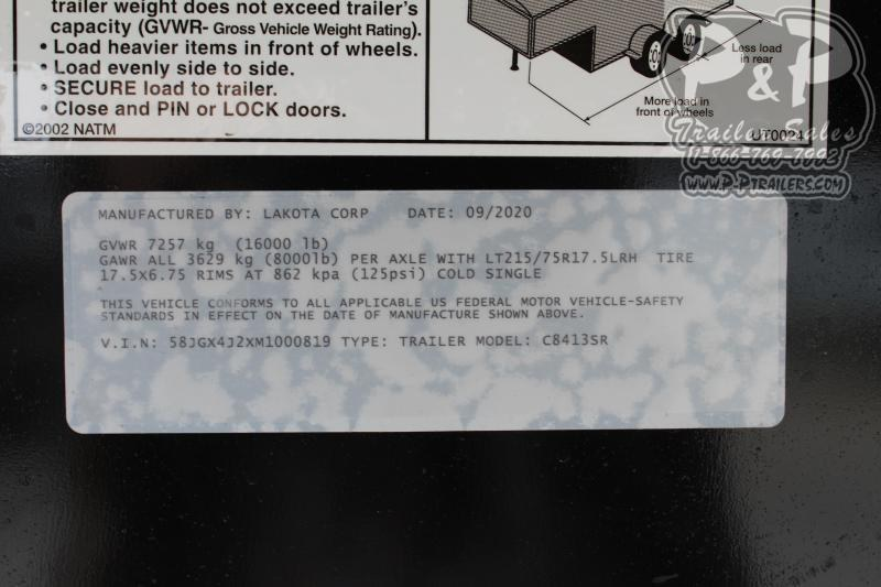 2021 Lakota Charger C8413SR 4 Horse Slant Load Trailer 13 FT LQ w/ Slide