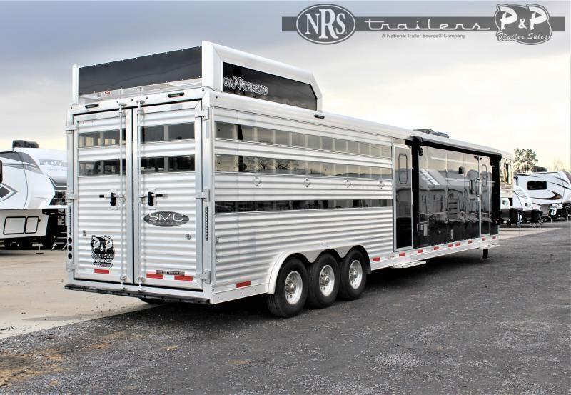 2022 SMC Horse Trailers SLE81614SSRT 37 ' Livestock Trailer LQ