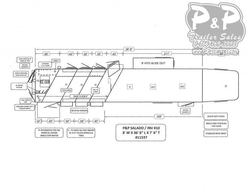 2021 Bloomer 8417PCOLFK 4 Horse Slant Load Trailer 17 FT LQ With Slides w/ Ramps
