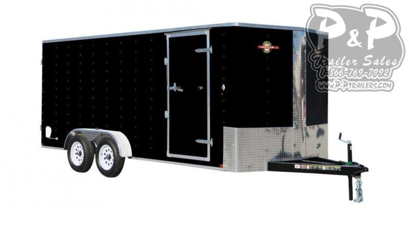 2021 Carry-On 7X16 CGRBN Enclosed Cargo Trailer