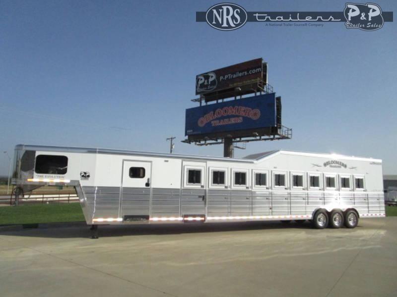 2022 Bloomer 810TRN 10 Horse Slant Load Trailer w/ Ramps
