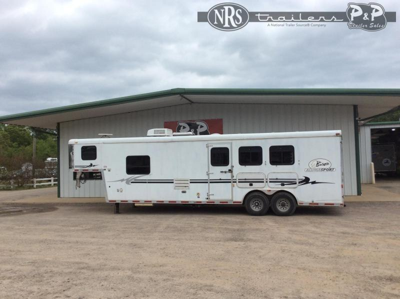 2005 Bison Trailers 8310 Alumasport 3 Horse Slant Load Trailer 10 FT LQ