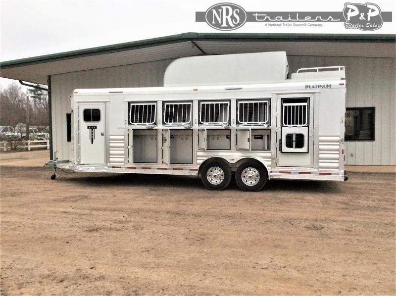 2021 Platinum Coach 85BPREV 5 Horse Reverse Slant Load Trailer