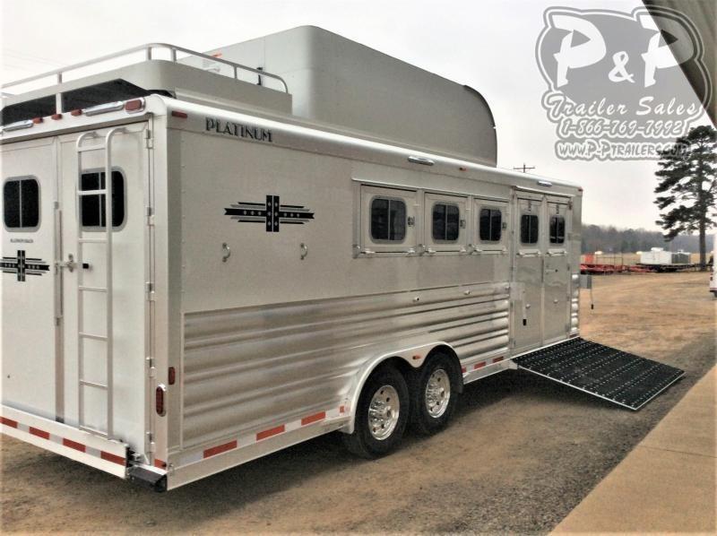 2021 Platinum Coach 85BPREV 5 Horse Reverse Slant Load Trailer w/ Ramps