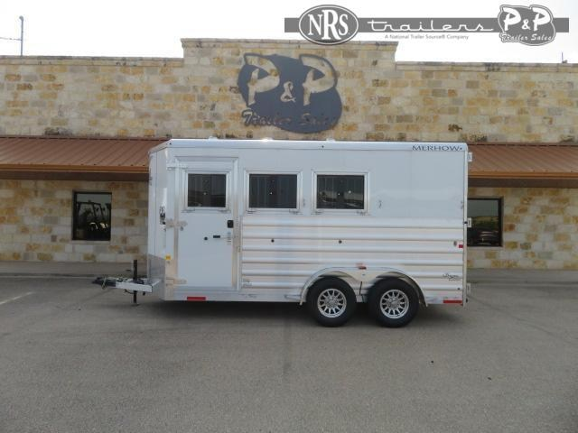 2022 Merhow Trailers Bronco 73BHSL 3 Horse Slant Load Trailer