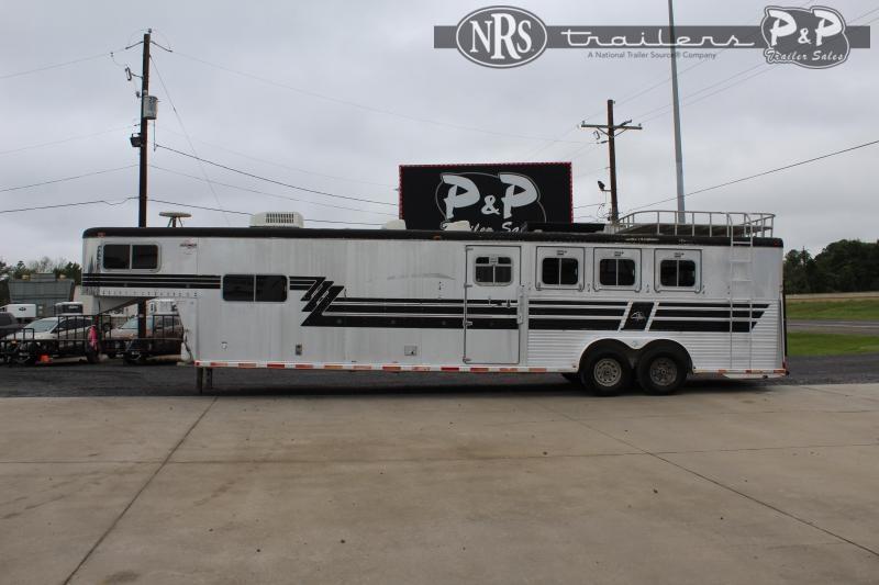 1997 Sooner 7412 4 Horse Slant Load Trailer 0 FT LQ w/ Ramps