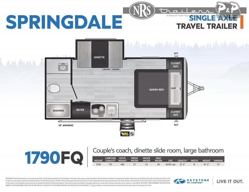 2021 Keystone RV Springdale Mini 1790FQ Travel Trailer RV