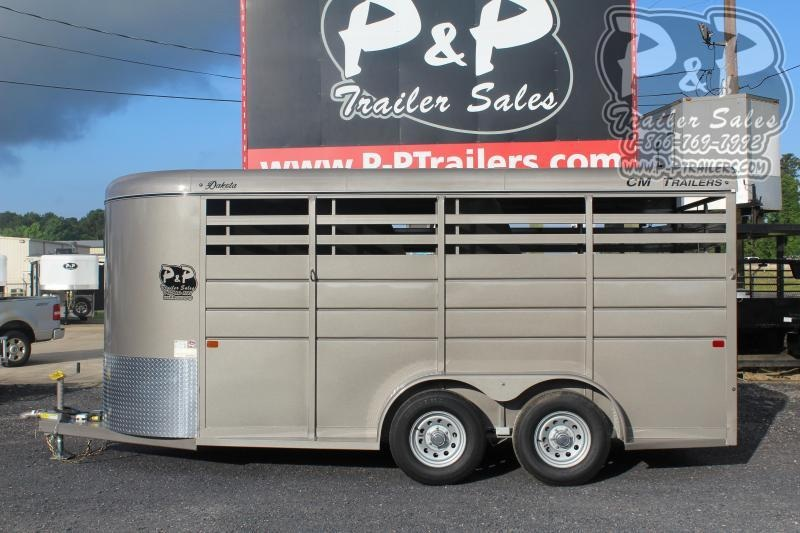 2021 CM Dakota CMH0833-1600235 Dakota 3 Horse Slant Load Trailer